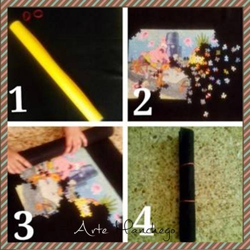 Cómo hacer un tapete para puzzles