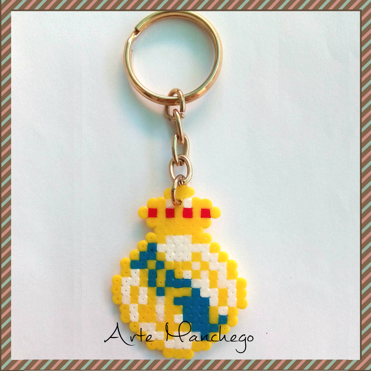 Llavero del Real Madrid de Hama Beads