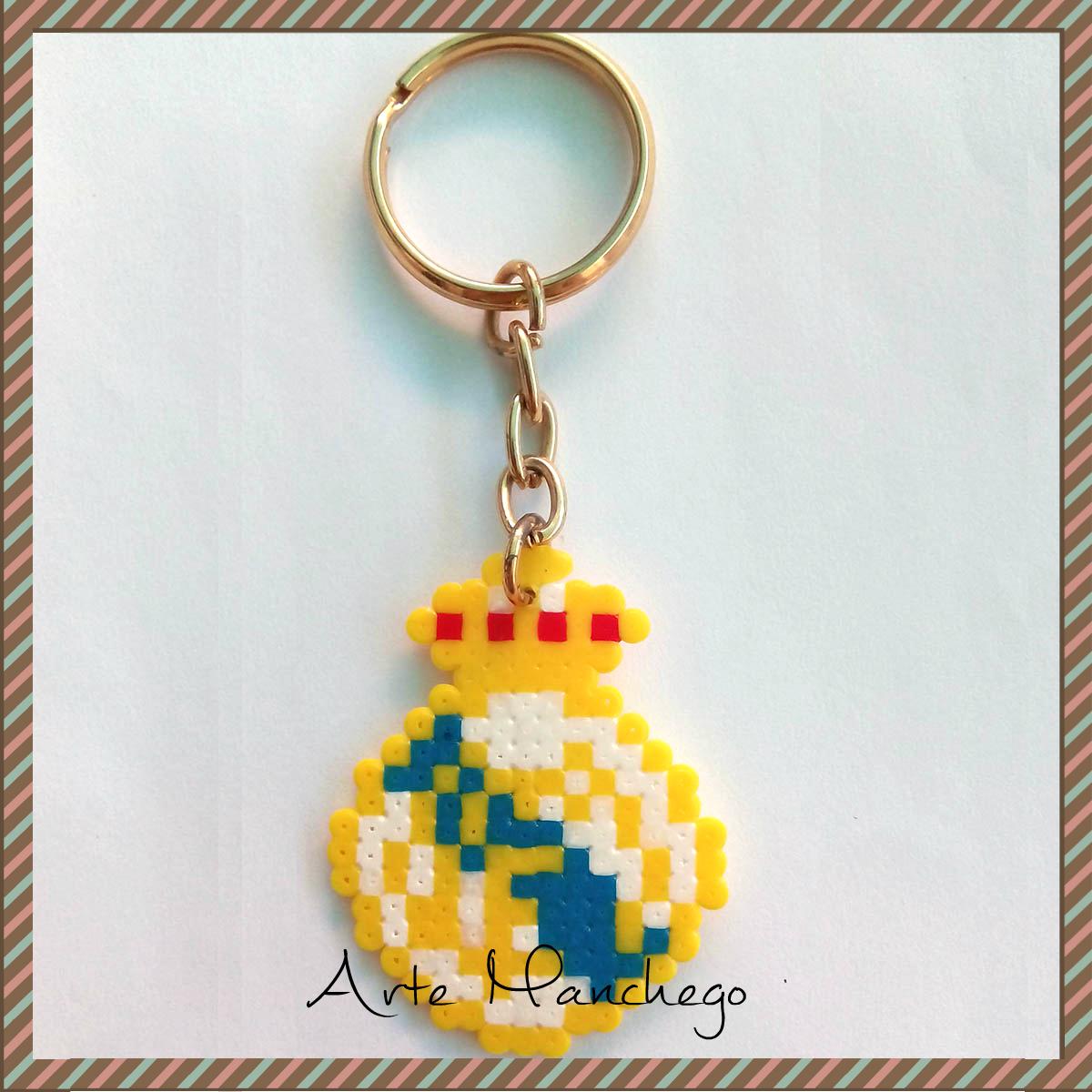 Llavero del Real Madrid de Hama Beads