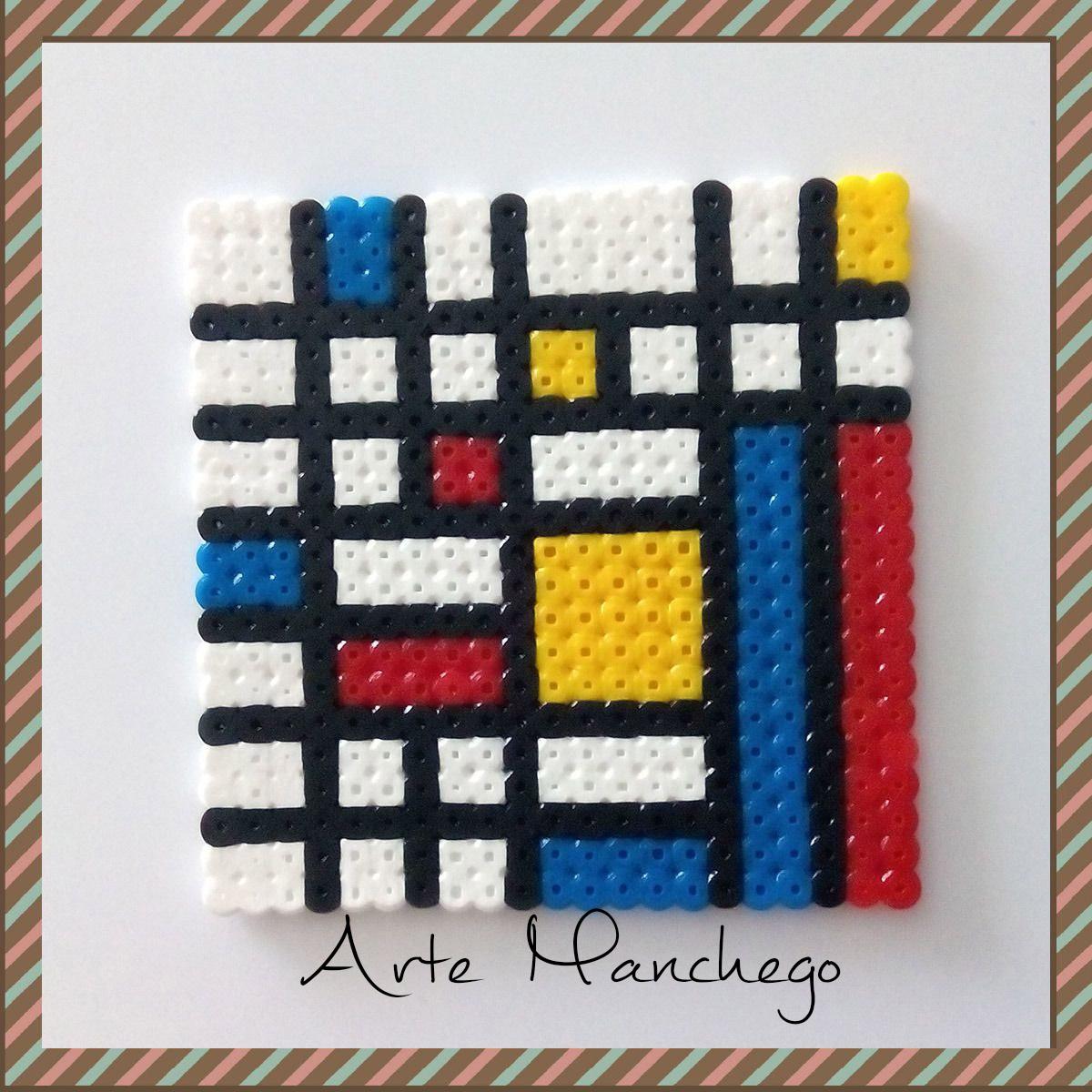 Posavasos cuadrados de Hama Beads