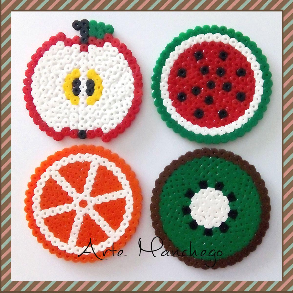 Posavasos de Frutas de Hama Beads