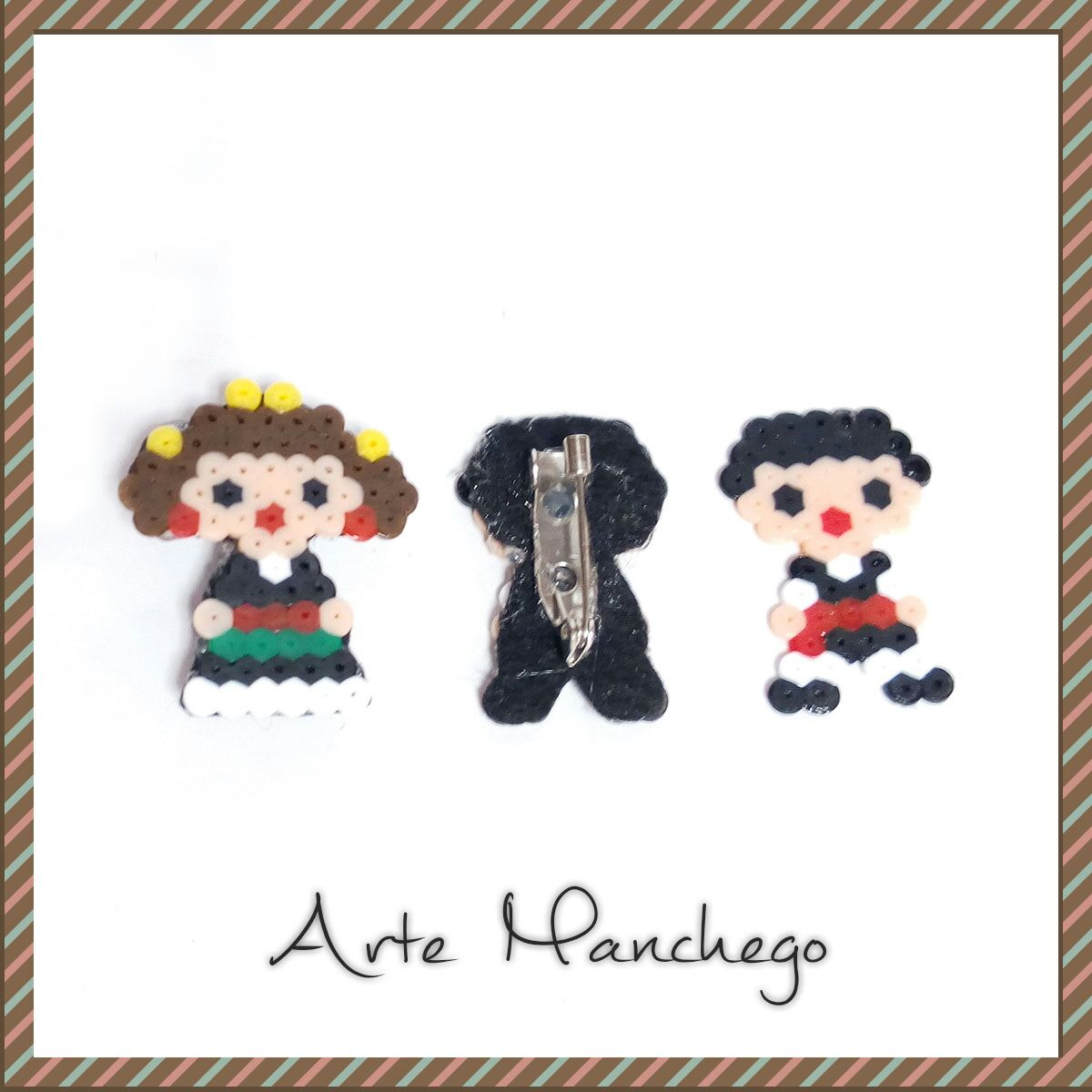 Broches Manchegos de Hama Beads