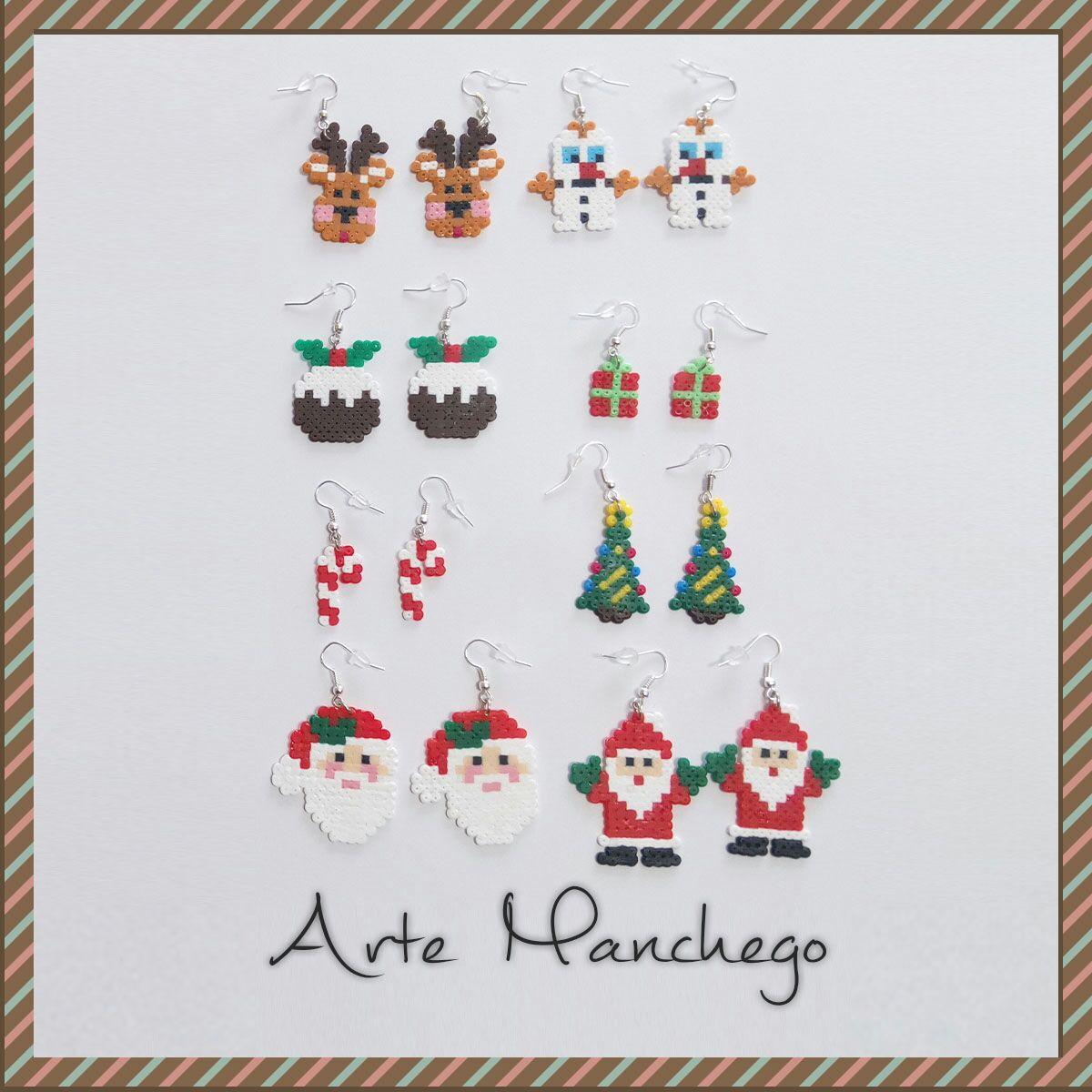 Pendientes de Navidad de Hama Beads