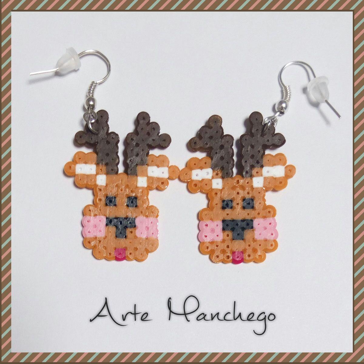 Pendientes renos de Hama Beads