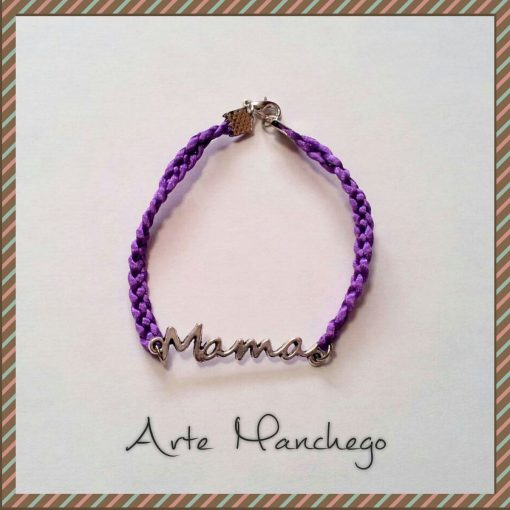 Pulsera Mamá color violeta